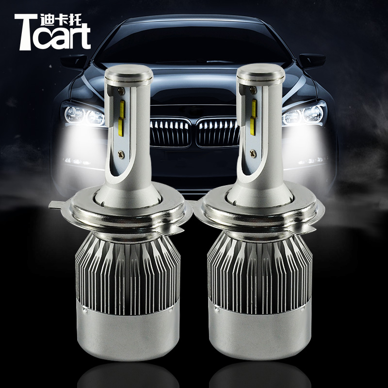Tcart 2pcs H4 LED Headlight with mute fan very condenser C6F 6000K HI/LO High Beam / low beam Head lamp for Honda CR-V 2005