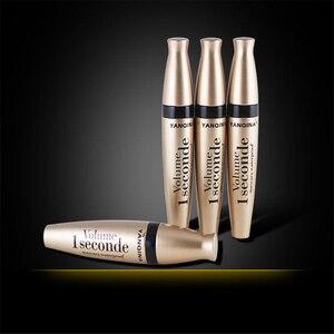 Image 4 - 4D fiber silk mascara waterproof natural thick curl eyelash silicone brush head professional makeup mascara