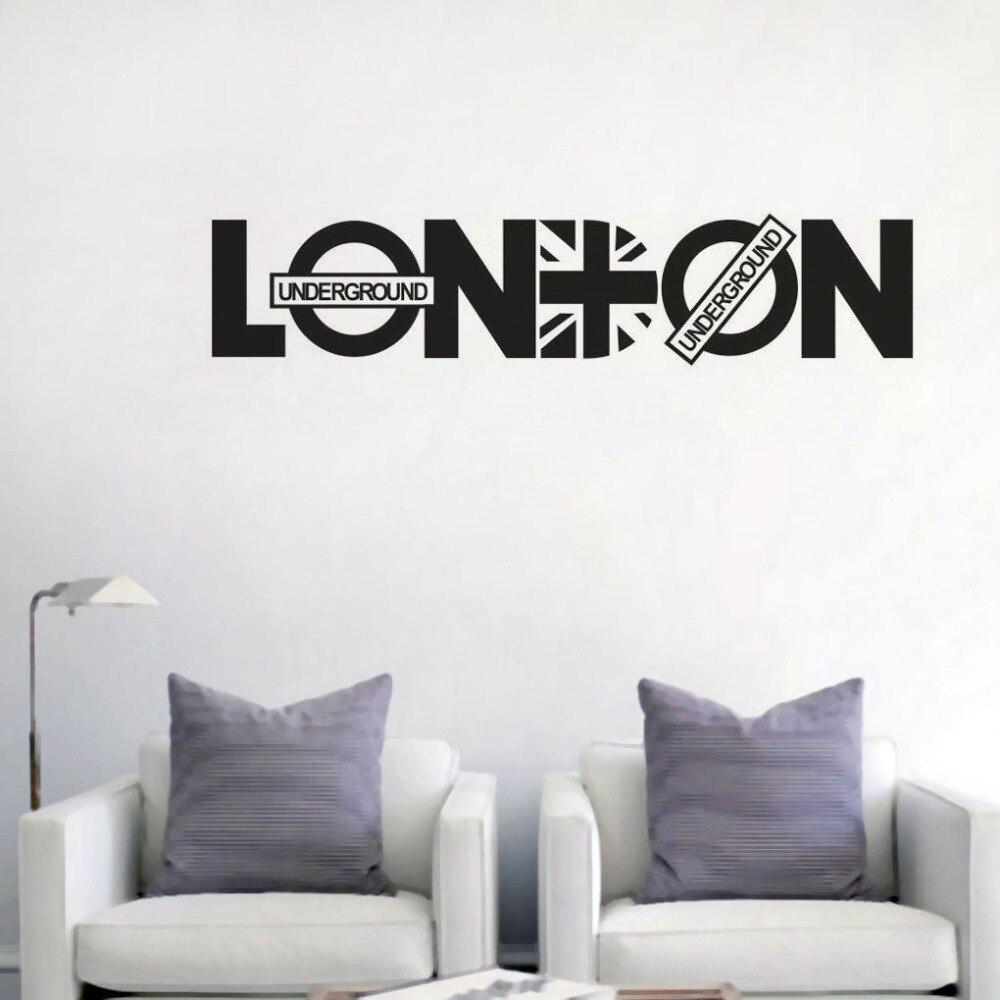Sympathisch Wandtattoo Mit Namen Beste Wahl London Zitat Wandaufkleber Abnehmbare Vinyl Berühmten Stadt