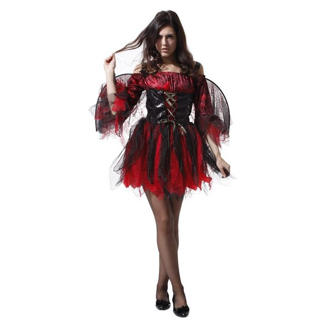 image  sc 1 st  Aliexpress & Online Shop Adult Halloween costumes sexy red and black female angel ...