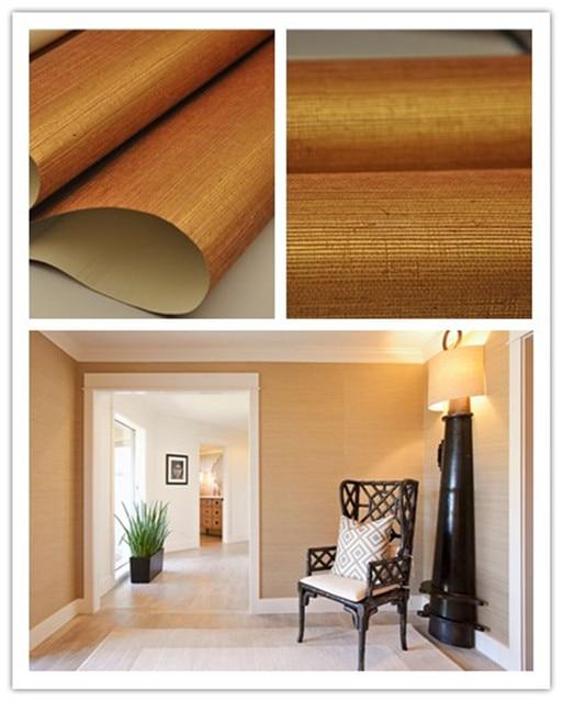 Förderung Gold Grasscloth Texturen Natürlichen Stoff Tapete Für