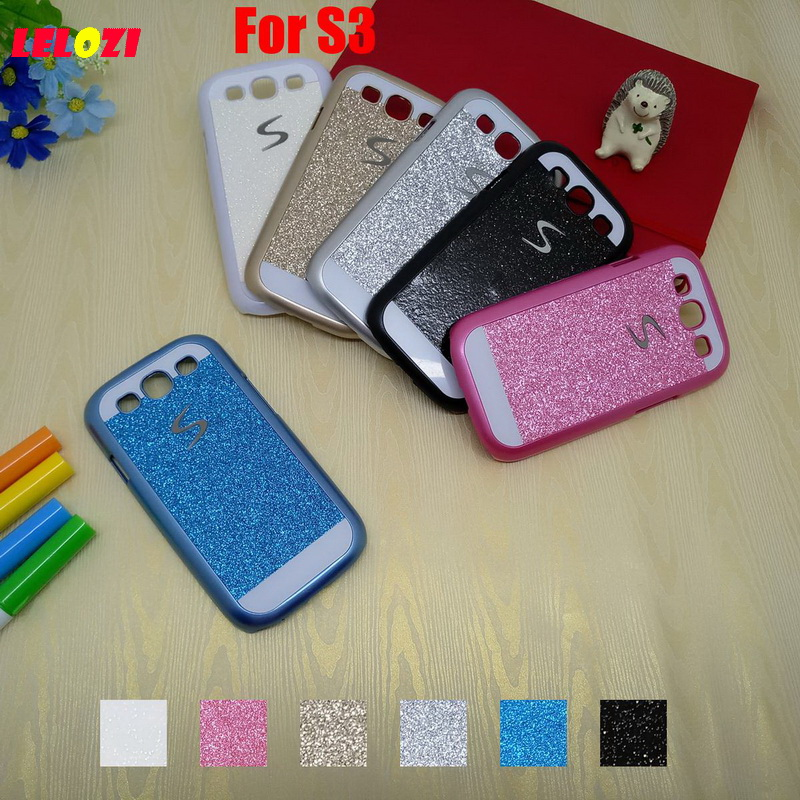 LELOZI Bling Shinning Glitter Hard PC Lady Girl Capinha Etui Case Cover Capa Coque For Samsung Galaxy S3 Beautiful Vintage