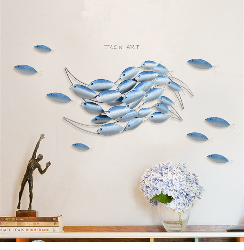 Средиземноморский кованый железный фон для детской комнаты, украшения стены, креативный дом, гостиная, Телевизор