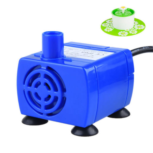 Portable Mini Pet Replacement Water Fountain Pump Submersible Dog And Cat Drinking Fountain Blue #4