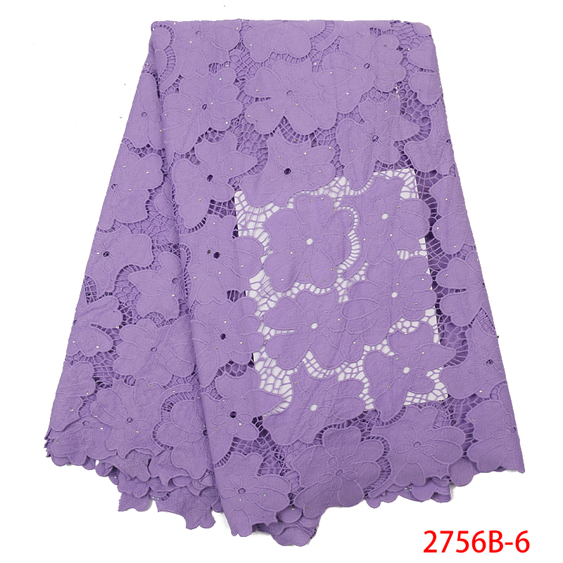African Guipure Lace Fabric Hot Sale,Cotton Cord Lace Fabric High Quality, Water Soluble Lace For Party Dress KS2756B-6
