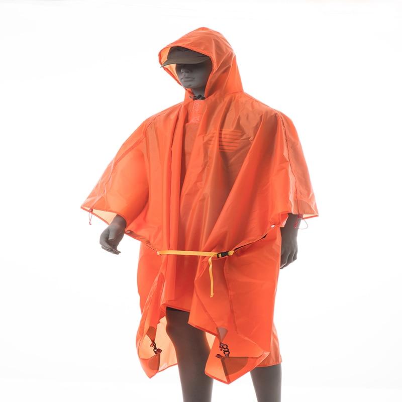 3f ul engrenagem 3 em 1 multifuncional poncho capa de chuva para caminhadas pesca montanhismo revestido