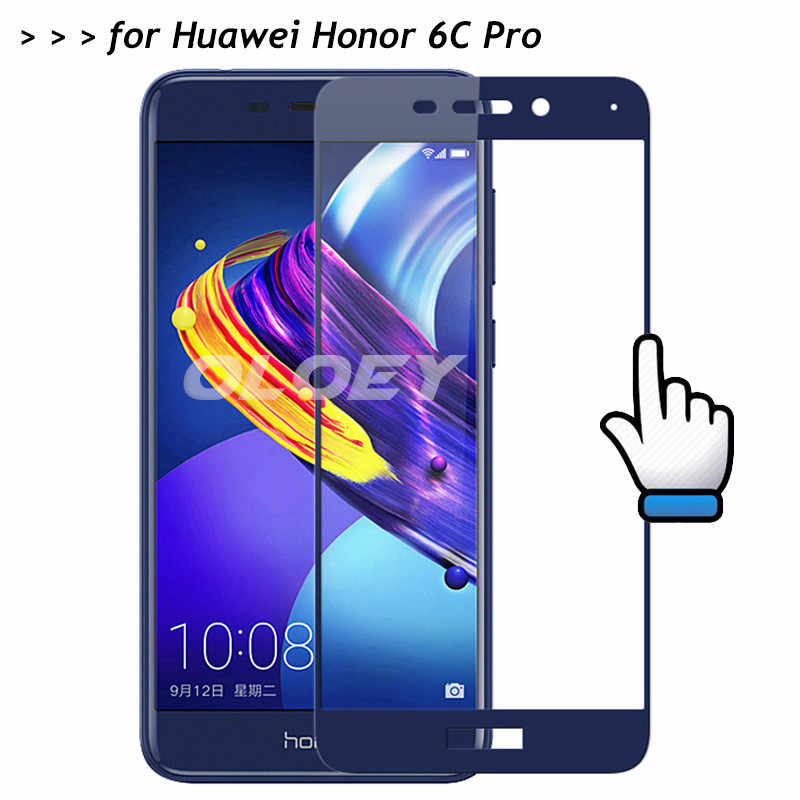For Huawei Honor 6C Pro Full Cover Screen Protector 9H Tempered Glass All Coverge Film On 6 C Pro JMM-AL00/AL10 JMM-TL00/TL10