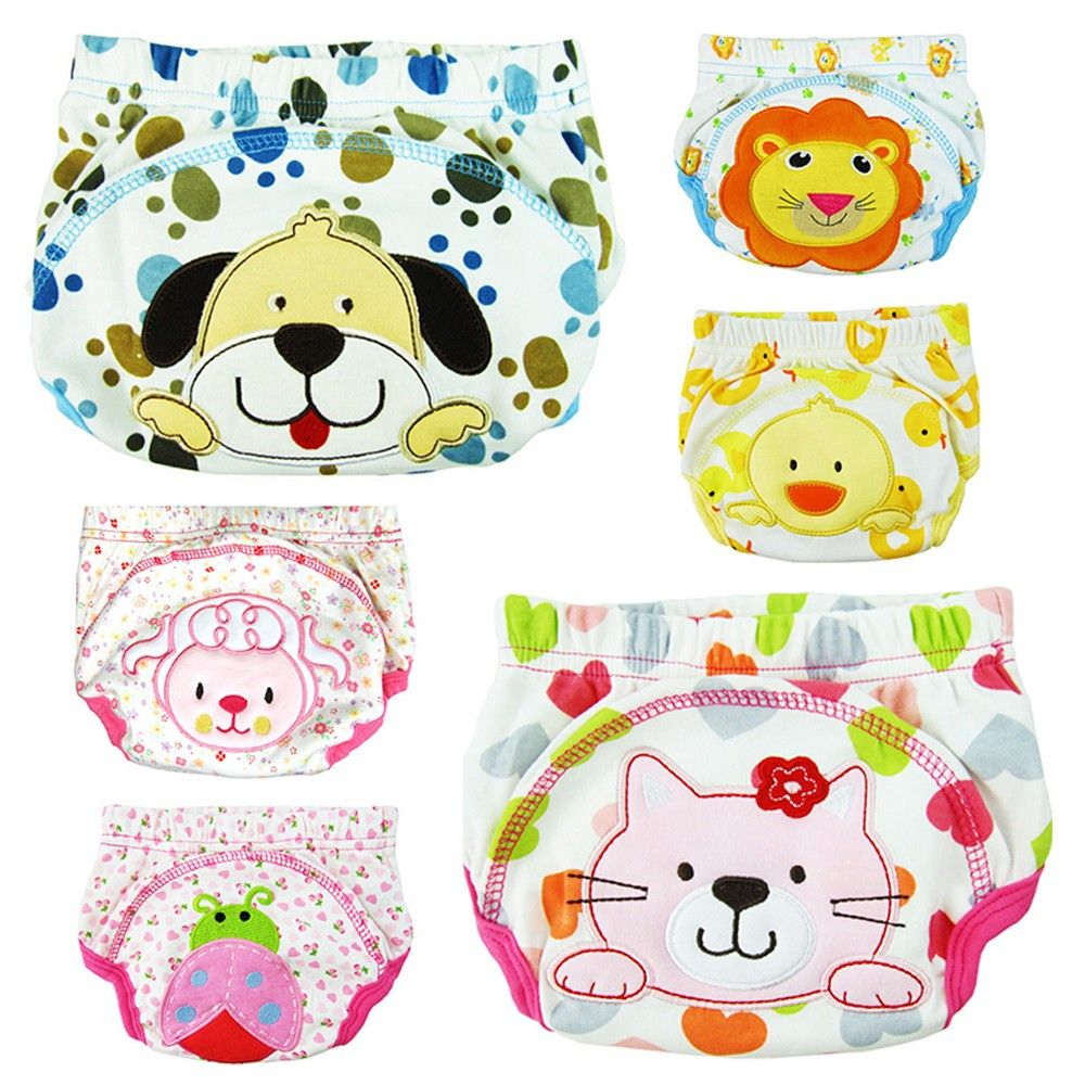 Hot Selling New Toilet Pee Potty Training Pant Diaper Underwear Baby Suit For Baby Boy Girl Animal Design For Baby Care 2018