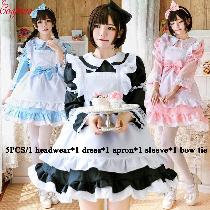 Alice Adult cosplay costume Sleepwalking Wonderland Blue Evening Dress Alice Dream Female Sissy Maid Lolita Cosplay Costume 2018