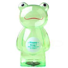 Милый зеленый счастливый лягушка копилка коробка для монет