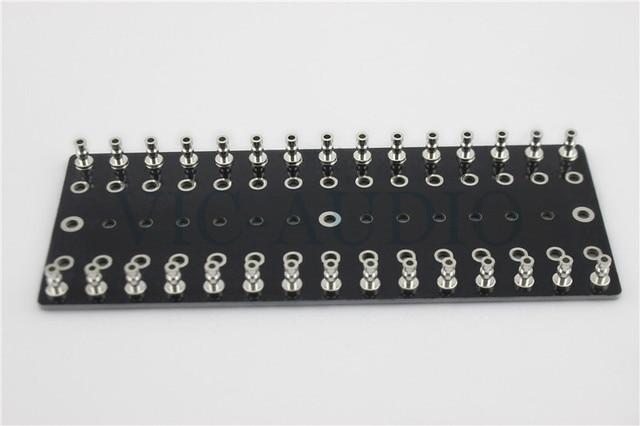 DIY projekty Audio Tag taśmy/Tag pokładzie/wieża pokładzie konserwy miedzi 150x60x2mm 75 otwory 1 sztuka darmowa wysyłka