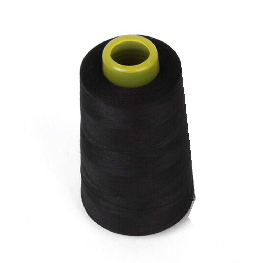 1 Coil Wire Sew Polyester Sewing Machine 40S / 2 Black leather sewing thread waxed thread for leather nylon thread