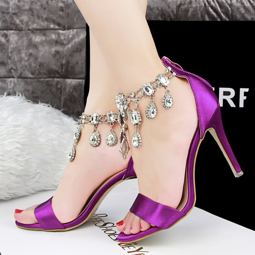 Aliexpress.com : Buy New 2015 Rhinestone Sexy High Heels Sandals ...