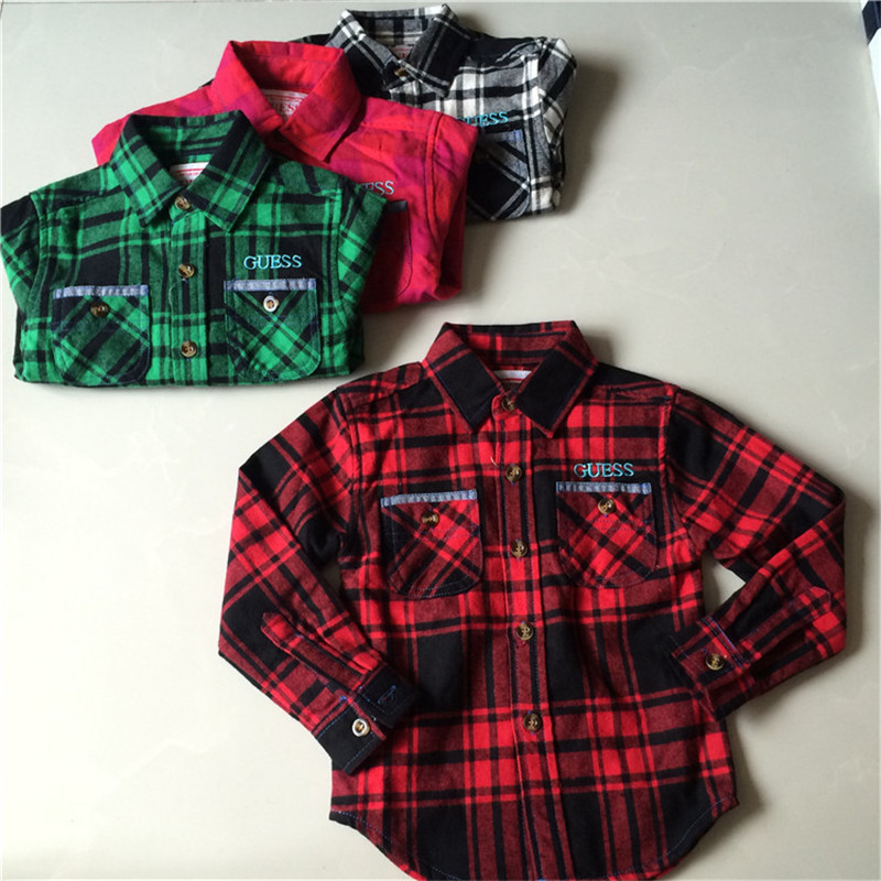 New Arrival Boys Shirt font b Blouses b font Fashion Plaid Cotton Shirt For Boys long