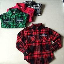 New Arrival Boys Shirt font b Blouses b font Fashion Plaid Cotton Shirt For Boys long