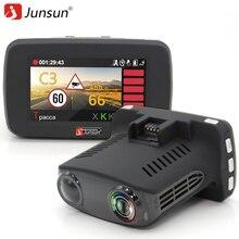 Junsun Carro detector de Radar 3 em 1 para A Rússia com GPS Câmera DVR FHD 1080 P Speedcam X/K/Ka/La/CT dvr anti detectores de radar do carro