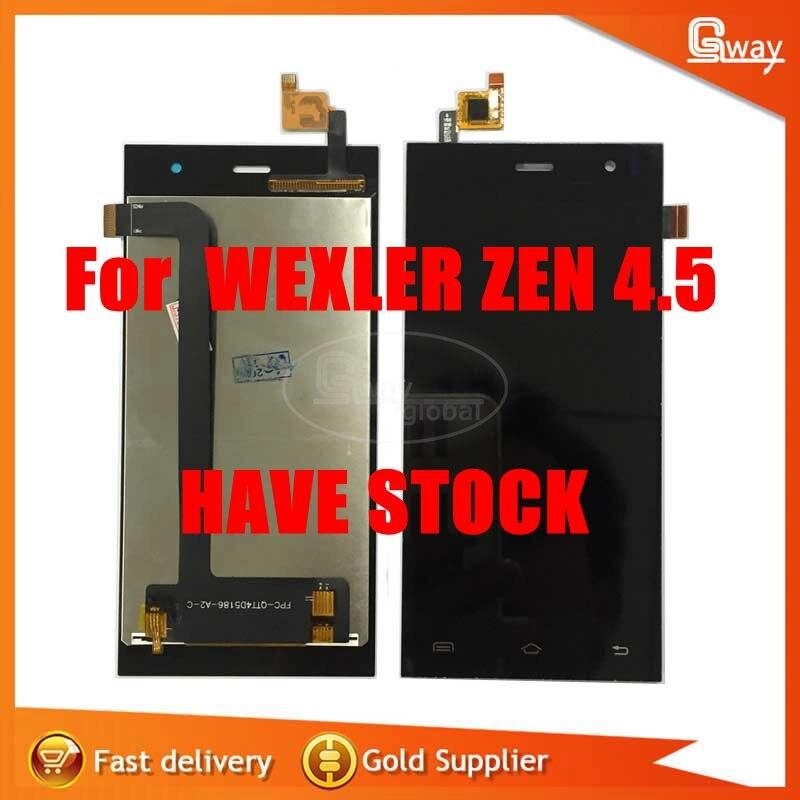 imágenes para De Calidad superior para el smartphone WEXLER ZEN 4.5 pantalla lcd + asamblea de pantalla táctil + Herramientas Kits
