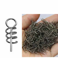 50 pcs / bag Pesca Fising lure 14 mm Fishing Tackle spiral fishing bait steel spring for fishing Accessories for fishing