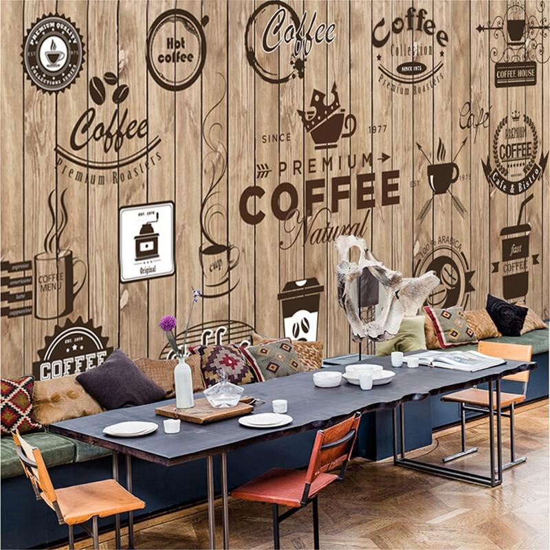 Custom Mural Wallpaper For Cafe Restaurant Living Room