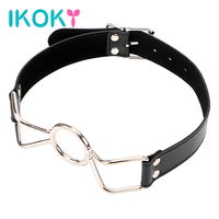 IKOKY Roleplay Erotic Play Flirting Oral Fixation Sexual Bondage Sex Toys Products Bondage Strap Plug Metal