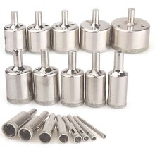 цена на Diamond Drill Bits,18Pcs Diamond Hole Saws Hollow Core Drill Bits Set Remover Tools for Glass,Ceramics,Porcelain,Ceramic Tile,