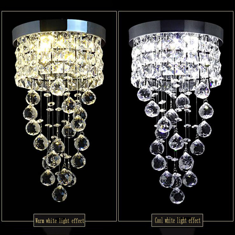 New Modern Led Small Crystal Chandelier Lighting Ceiling Lamp for Kitchen Bathroom Closet Bedroom Decorative Lamp
