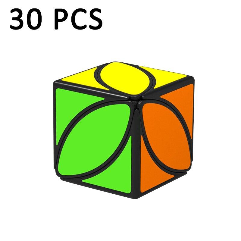 30 pièces QiYi FengYe feuille d'érable Cubo magico étrange-forme cube magique vitesse torsion Puzzle cube éducation classique jouets noir néo Cube