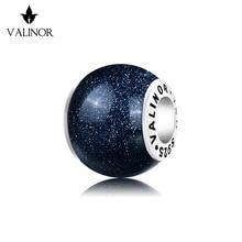 כחול ונוס אבן 925 כסף סטרלינג חרוזים קסמי fit צמידים & צמידי TRBS016