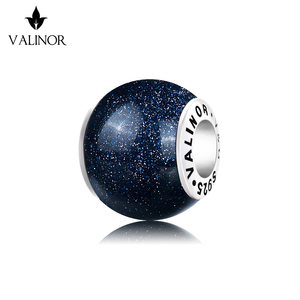 Image 1 - Azul venus pedra 925 prata esterlina contas encantos ajuste pulseiras & pulseiras trbs016