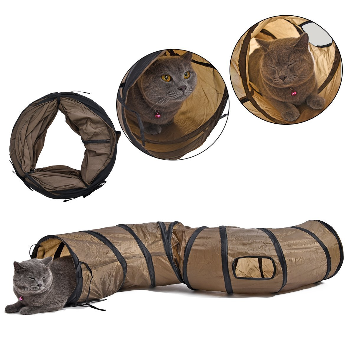 Cat Toys Collapsible Tunnel for Rabbits, Kittens, Ferrets and Dogs