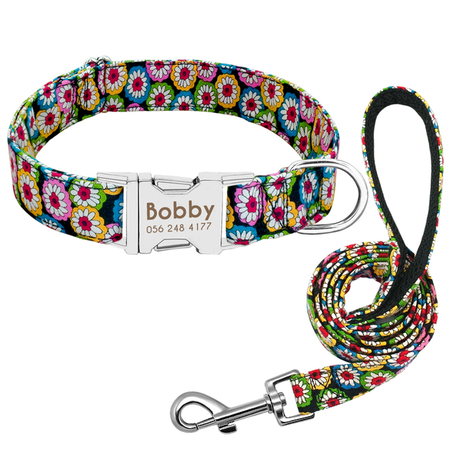 Adjustable Dog Collar Custom Nylon  1