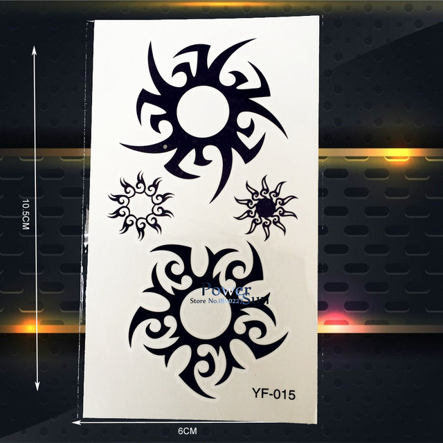 Indian Sun Waterproof Fake Temporary Tatoo Stickers Totem PYF-015 Fake HEnna Tattoo Jewelry Sticker Women Men Body Art Arm Legs