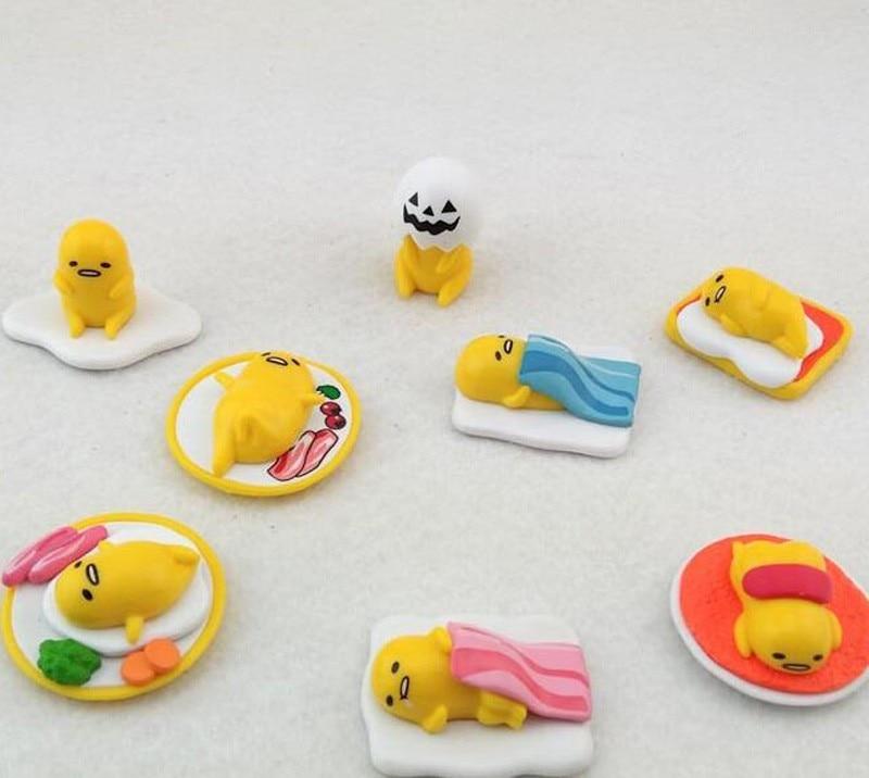 Travelmall 8pcs Set Sanrio Gudetama Egg Mini 1 4cm Pvc