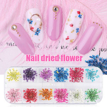 2019 Hot sale 1 Set Nail Art Tips Decoration Small Dried Flower DIY Manicure Accessories for Women
