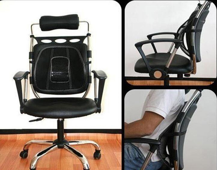 Free Shipping New fortable mesh chair relief lumbar back pain support car cushion office seat chair