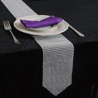 10 stücke 12 cm x 275 cm Funkelnde gold silber Diamant Tischläufer diy für Hochzeitsfest Veranstaltungs dekoration Zubehör Heimtextilien