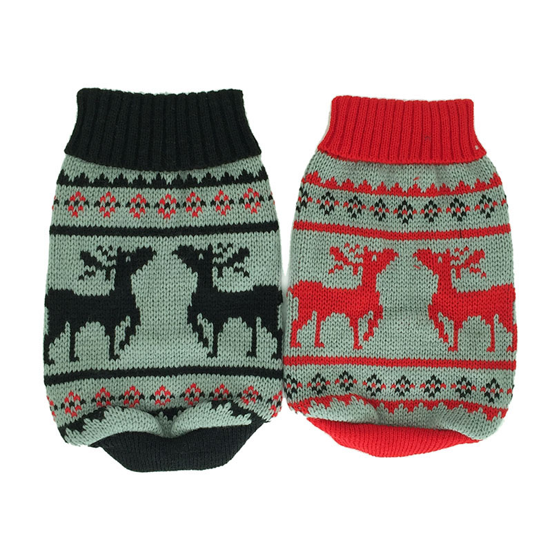 Warm Dog Sweater Knitwear Cute Reindeer Pet Cat Dog Knited Clothes for Puppies Small Dogs Outfits Doggy Xmas Christmas Costume ...