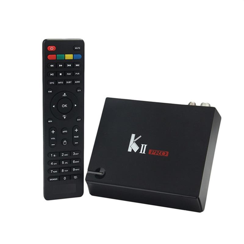 Mecool KII Pro DVB-T2 DVB-S2 Android TV Box Amlogic S905 2GB 16GB Quad Core Smart Box Bluetooth Wifi Miracast Media Player mecool ki plus dvb s2 t2 combo smart android tv box amlogic s905 quad core 1g 8g 1080p 4k 2 4g wifi cccamd newcamd