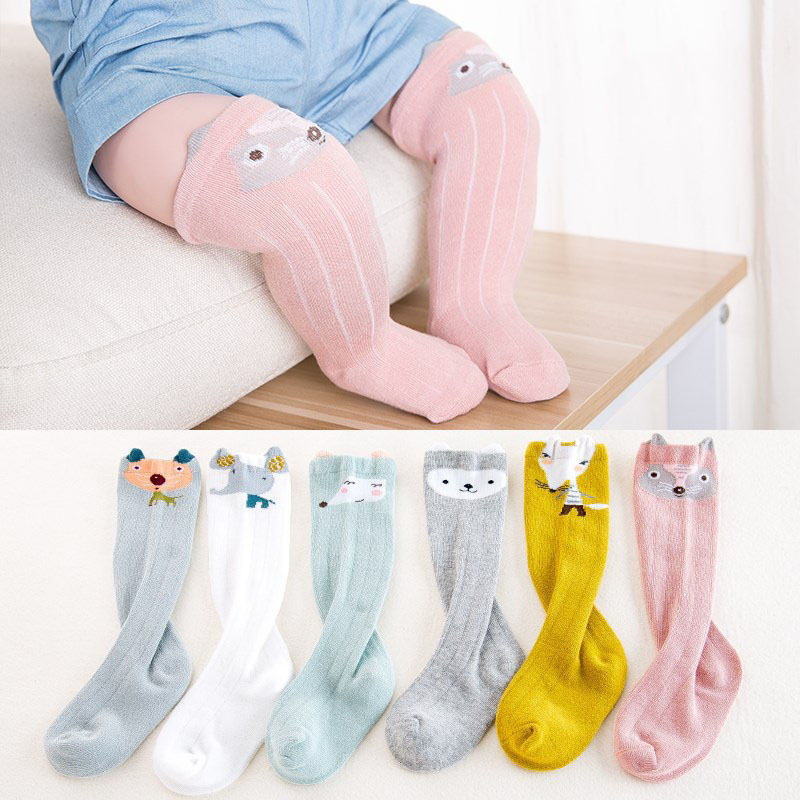 2019 Neuestes Design Frühling Baumwolle Baby Socken Einfarbig Kleinkind Kinder Lange Knie Hohe Socken Socken Baby Mädchen Jungen Warme Beinlinge Sokken Socken & Strumpfhosen