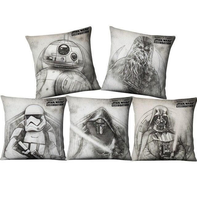 Dipinti a mano Star Wars Yoda Darth Vader Fodere per Cuscini Complementi Arredo