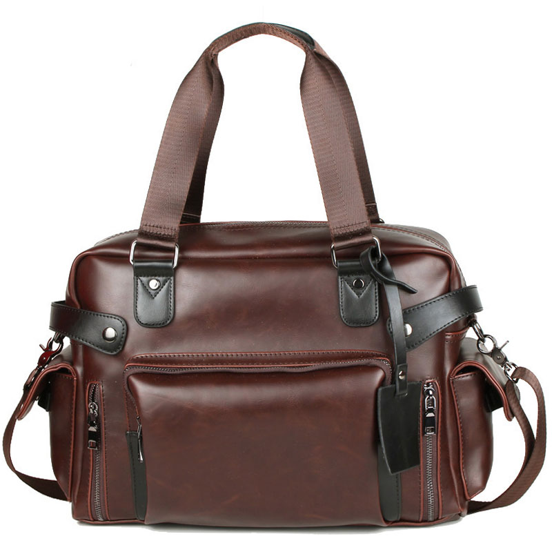 Designer Men's Briefcase Vintage Handbag Crazy Horse Leather Large Messenger Bags Business Coffee Laptop Crossbody Bag XA186ZC