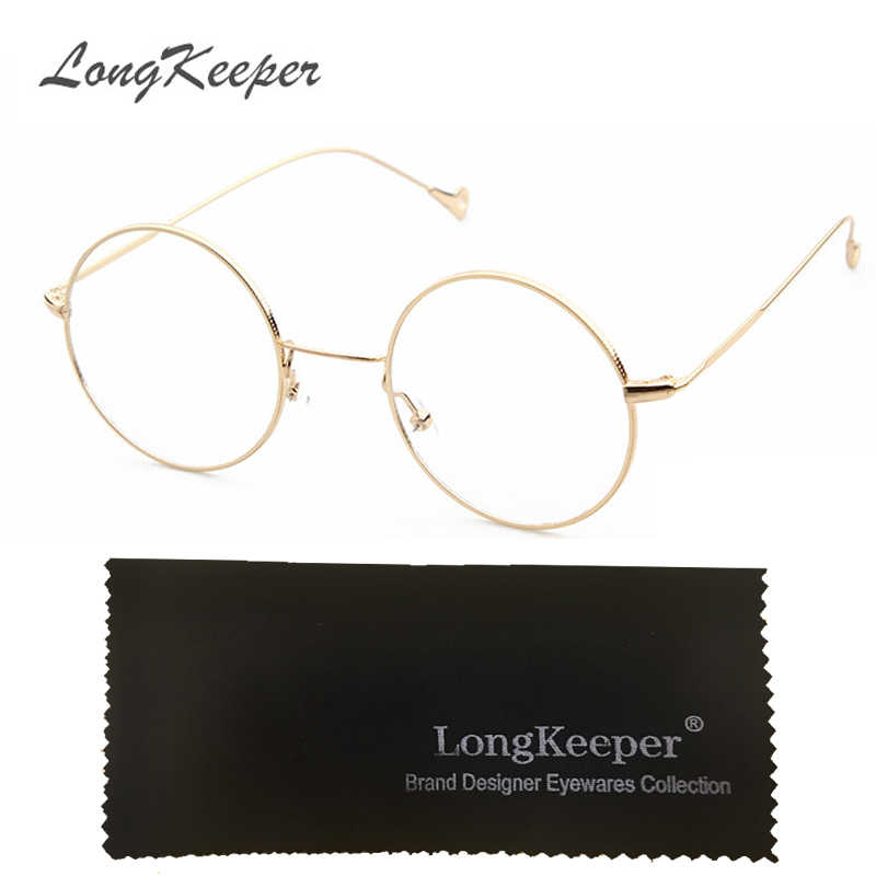 2e7538bb1557 LongKeeper Korean Glasses Frame Retro Full Rim Gold Eyeglass Frame  Spectacles Round Computer Glasses Unisex NO