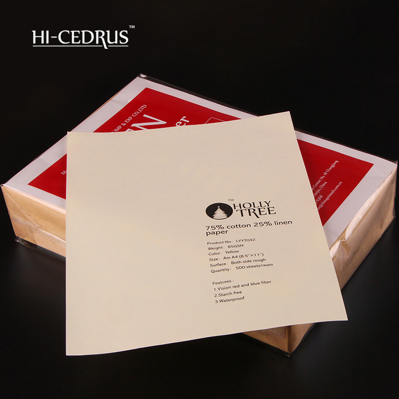 Perfect quality 85g Ivory  8.5inch*11inch 75%cotton 25%linen printer ,letter ,stationery paper with color fiber.  LYYT042