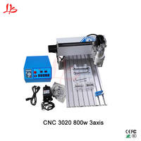 Wood router 3020 CNC engraving machine mach3 control ball screw 800w spindle