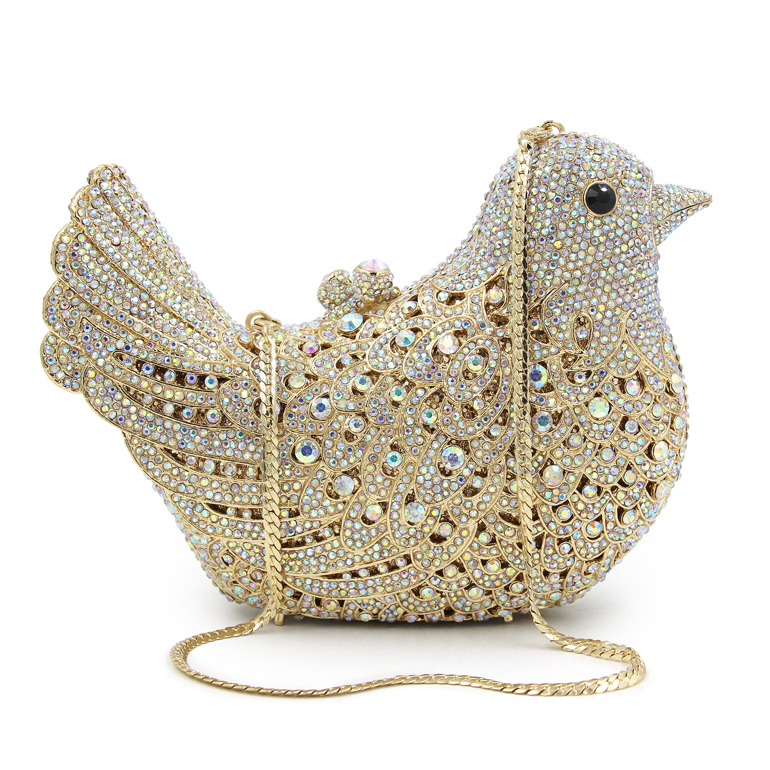 Hot Sale Luxury Diamond Bird Bag Women Crystal Animal Evening Clutch Hand Bag For Party Purse Woman Chain Handbags Mini Baobao luxury crystal clutch bags uk hot sale pillow shaped white pearl clutch handbags for cheap women crystal evening bag with chain
