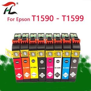 Image 1 - 8PK T1590 1590 cartucce di inchiostro Per Epson STYLUS PHOTO stampante R2000 T1590/T1591/T1592/T1593/T1594/T1597/T1598/T1599 cartuccia di inchiostro