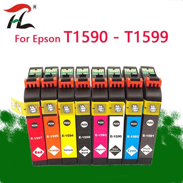 8PK T1590 1590 ink cartridges For Epson STYLUS PHOTO R2000 printer T1590/T1591/T1592/T1593/T1594/T1597/T1598/T1599 ink cartridge