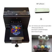 Multicolor Inkjet A4 size Format T Shirt Printer special for Light color and dark color Garment print