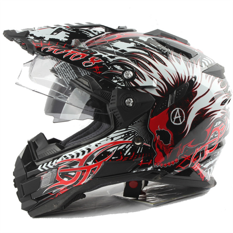 Профессиональный Приключения шлем off road шлем DOT ЕЭК Утверждено Двойной козырек Системы мотоцикл шлем эндуро шлем