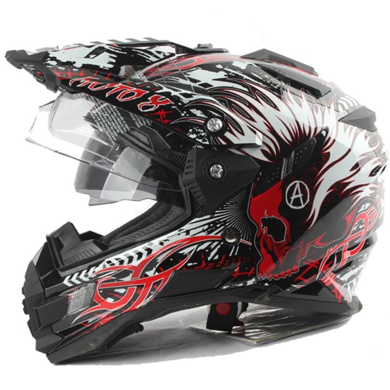 Professionell äventyrshjälm Off Road Helmet DOT ECE godkänd Dual - Motorcykel tillbehör och delar